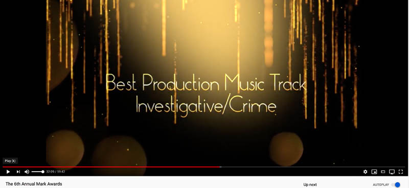 title Card - BEST INVESTIGATIVE-CRIME TRACK