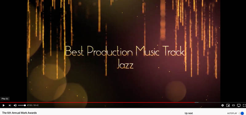 title Card - BEST JAZZ TRACK TRACK