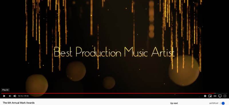 title Card - BEST PRODUCTION MUSIC ARTIST